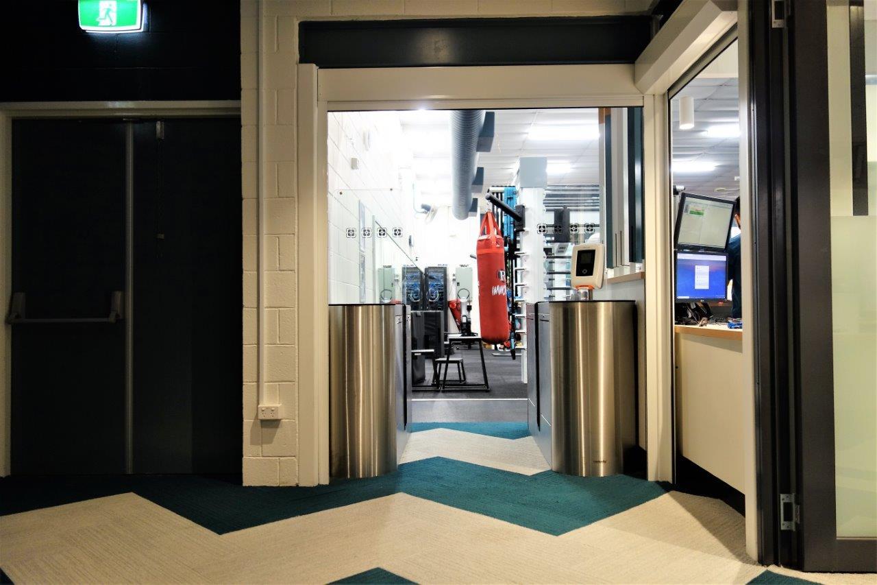 HBF Gym entrance with Centaman Entrance Control EasyGate