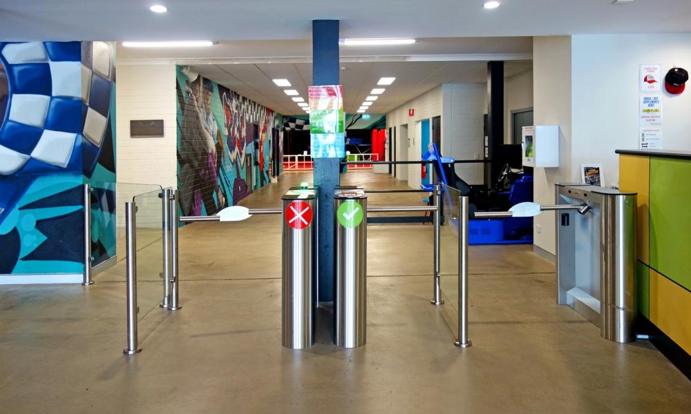 PCYC entry control gates
